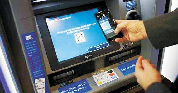 """银行无卡取款方式扫描:""""扫码取现""""普及度更高"""